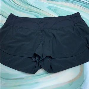 Lululemon run shorts black size 6 EUC